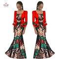 2017 mujeres africanas tradicionales dress casual primavera vestidos largos de manga larga ropa dress print africano dashiki wy1191