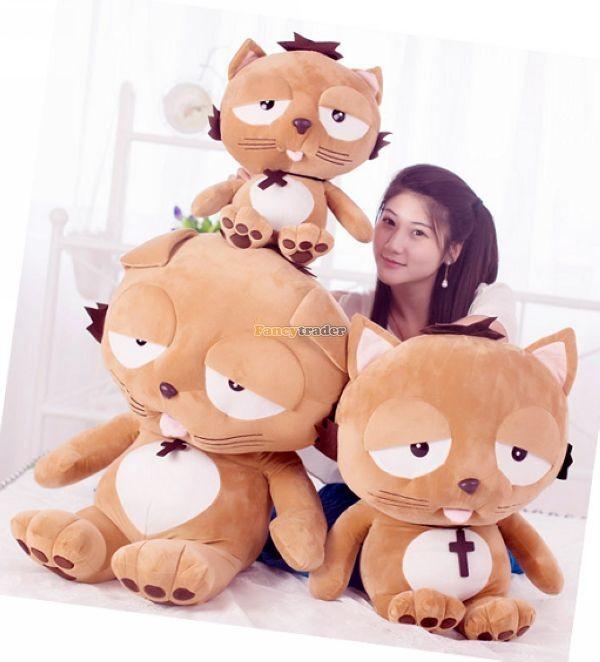 Fancytrader 35\'\' 90 Korean TV Soaps Plush Stuffed Lzay Dinga Cat, Free Shipping FT50250 (10)