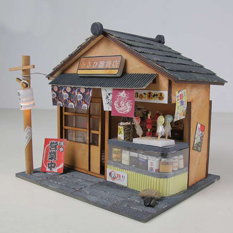 Creative Wooden House Miniature Dollhouse Furniture Kit DIY Doll Houses Model Room Handmade Toy For Children Birthday Gift D035 in Doll Houses from Toys Hobbies