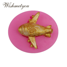 WISHMETYOU Stereoscopic Aircraft Silicone Mold Small Plane Shape Model Mini Cake Decorating Tools Handmade Chocolate Baking