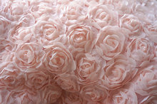 Chiffon Fabric, light pink rose lace fabric, 3D floral lace , apparel lace fabric, wedding decor lace fabric