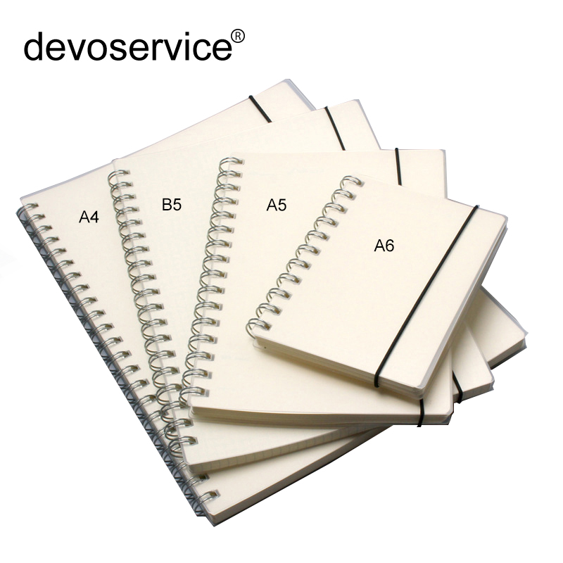 B5/A5/A6 PP Scrub Transparent Coil Notebooks office & School Supplies Simple Cute Style Line/Grid/Dot/Blank Spiral Notepad a5 a6 b5 spiral book coil notebook lined dot blank grid paper journal diary sketchbook for school supplies stationery store