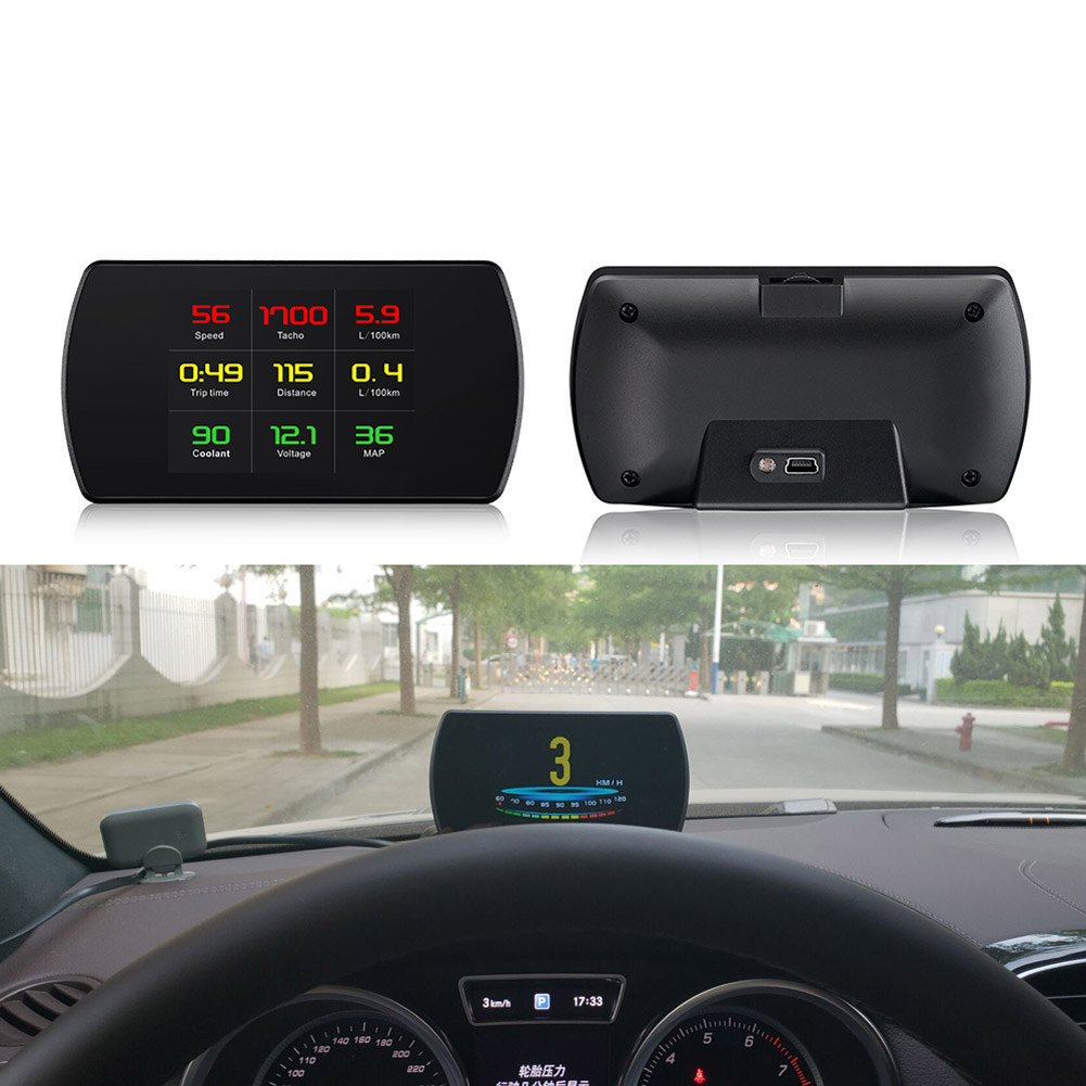 New P12 OBD2 Scanner Car HUD Display Speed Projector Digital Speedometer Mileage Gauge Diagnostic Tool CSL2018 new obd car speed projector hud head up display digital speedometer obd2 diagnostic tool