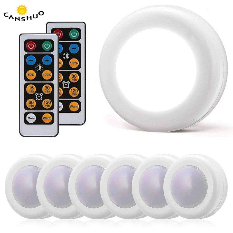 Luz do armário sem fio pode ser escurecido sensor de toque dupla cor led noite lâmpadas energia da bateria controle remoto adequado para cozinha escada