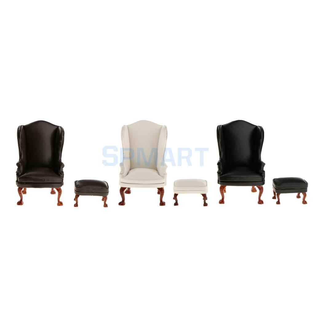 cool 12 scale dollhouse living room set | 1/12 Scale Dollhouse Living Room Furniture Wing Chair and ...