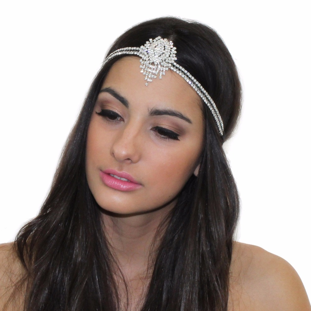 new GREAT GATSBY INSPIRED CRYSTAL PENDANT TIARA HEADPIECE HEADBAND-in Hair Jewelry from Jewelry & Accessories on Aliexpress.com | Alibaba Group