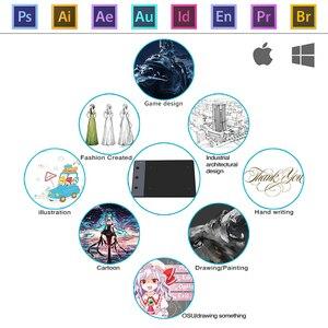 Image 4 - Huion H420 4x2.23 pollici 2048 sensibilità grafica penna da disegno digitale tavoletta firma Pad (perfetto per OSU)