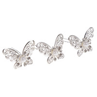 20PCS/SET Butterfly Simulated Pearl Crystal Flower Handmade   Hair   Stick   Hair   Pin Fashion Bridal   Wedding     Hair   Accessories   Jewelry
