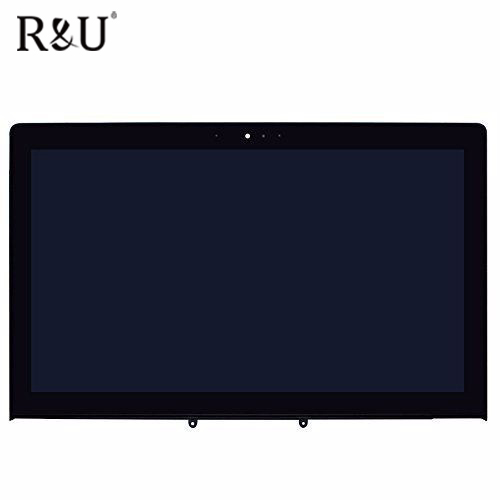 R&U 1366x768 Touch Screen Digitizer B156XW04 V.7 LCD Display Sensor Glass Replacement with frame For Asus VivoBook N550 N550L