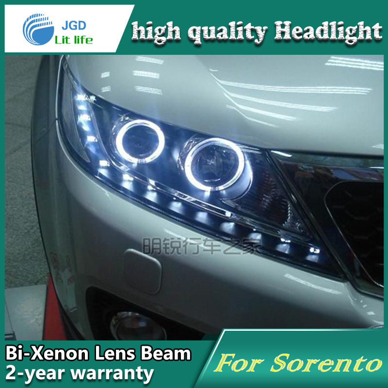 high quality Car Styling case for KIA Sorento 2011 2012 Headlights LED Headlight DRL Lens Double Beam HID Xenon Car Accessories hireno car styling headlamp for 2011 15 honda civic headlight assembly led drl angel lens double beam hid xenon 2pcs