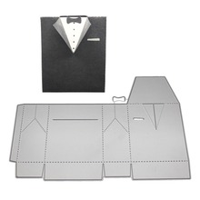 Suit Clothing Box Metal Cutting Dies Stencil For DIY Scrapbooking Embossing Paper Cards Crafts Birthday Stamps And Dies New 2019 azsg 2018 new arrival tree heart shaped embossing plates design diy paper cutting dies scrapbooking plastic embossing folder