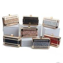 bolsa feminina wallet luxury handbags women bags designer shoulder crossbody bag boutique purse evening clutch metal pu box