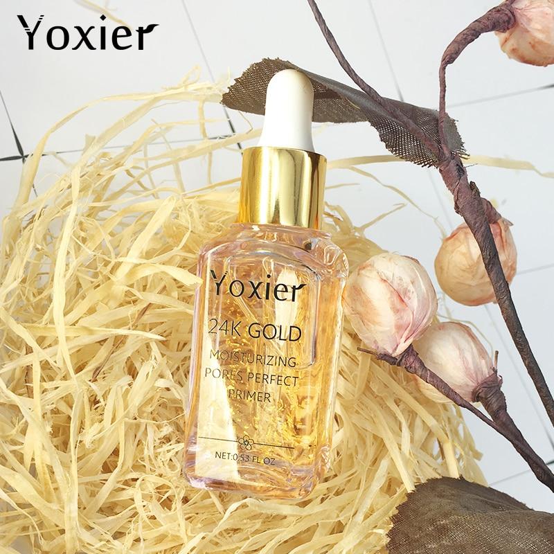 3PCS/LOT Yoxier Brand Makeup Base Moisturizing Essence 24k Gold Oil Control Professional Matte Serum Series Foundation Primer 5
