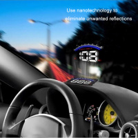 Universal Car Hud Head Up Display OBD 2 Speedometer Overspeed Car Alarm Auto Windshield Projector Car Electronics