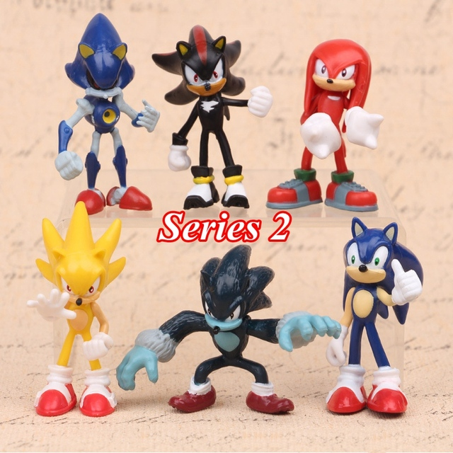 HOT Sonic World Adventure Sonic Werehog colas PVC figuras de acción sombra nudillos Anime figuras fiesta regalo