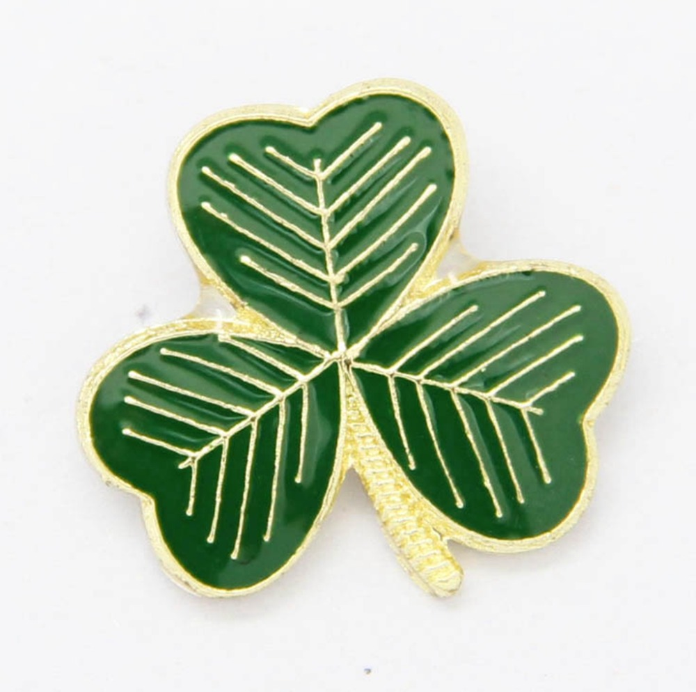 1.5Cm X 1.5Cm Length And Height Metal Shamrock Lapel Pin