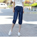 2017 New Summer Style jeans women Plus size women's Calf length Loose  casual  lace harem pants