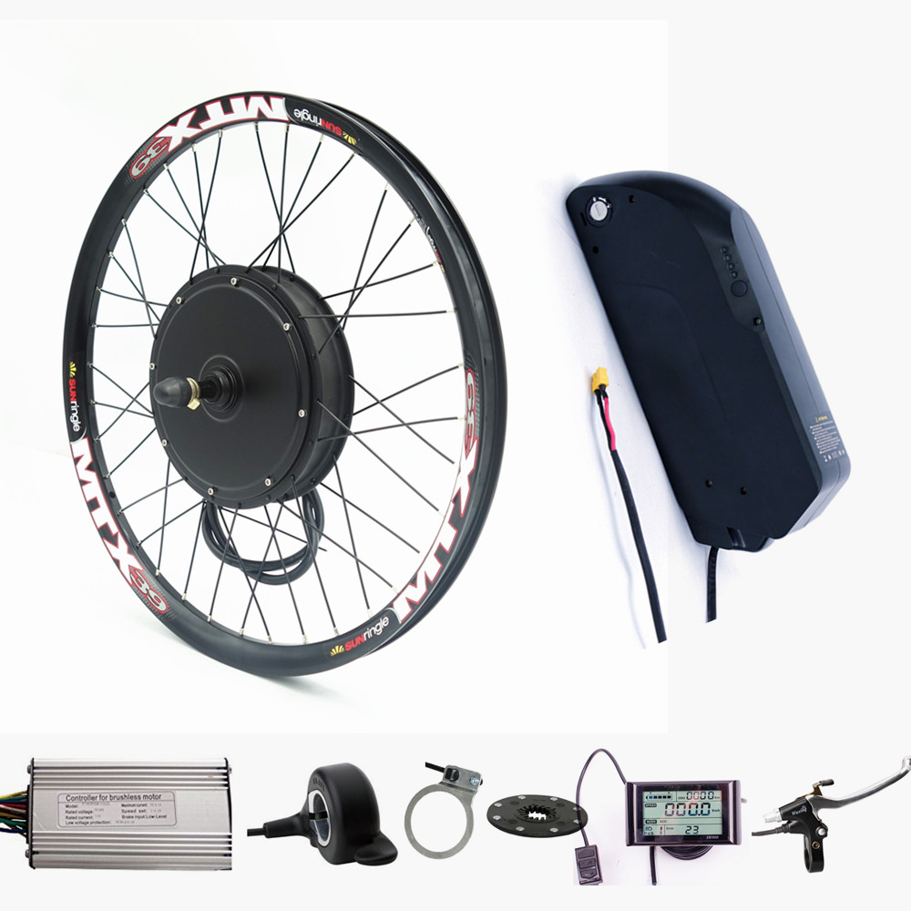 Electric bicycle bike kit 48V 1500W Rear Motor Wheel ebike conversion Kit with 52v 13ah Tigher shark lithium battery