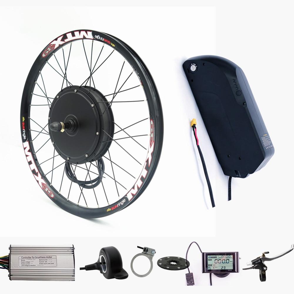 Electric bicycle font b bike b font kit 48V 1500W Rear Motor Wheel ebike conversion Kit