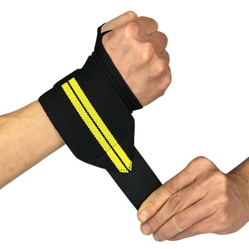 1PCS Weight Lifting Wrist Wraps Thumb Support Straps Gym Winding Wrist Bracers Fitness Crossfit Sports Wristband Hand Bands hand throttle wristband bracelet hand made christmas gift - AliExpress