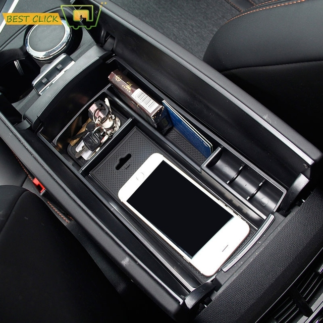 Storage Box Arm Rest Glove Tray Bin Container Holder Fit For Peugeot 3008 3008GT 2017 Interior Armrest Central Console