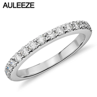 Classic Wedding Bands For Women Moissanites Lab Grown Diamond 14K White Gold Matching Band Enternal Wedding Ring Diamond Jewelry