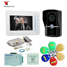 Yobang Security 7″inch video door phone RFID Access Control System& 5pcs Card for Apartment  doorbell home video intercom system