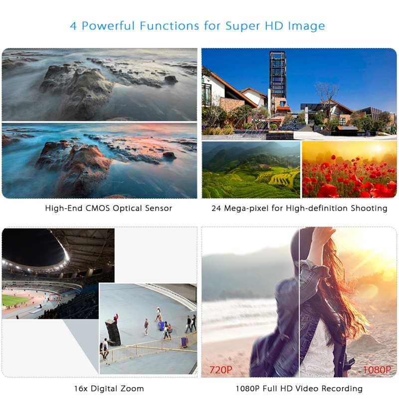 Caméscope vidéo HD à Vision nocturne infrarouge de 24 millions de Pixels caméra numérique 1080 P à main caméscope numérique à Zoom numérique caméscope DV - 2