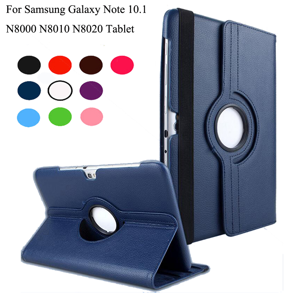 360 Degrees Rotating Stand PU Leather Flip Case For samsung Galaxy Note 10.1 N8000 N8010 N8020 tablet Unique Stained case creative design laptop sleeve pouch for samsung galaxy note 10 1 n8000 n8010 n8020 fashion hand holder tablet pc case bag gift