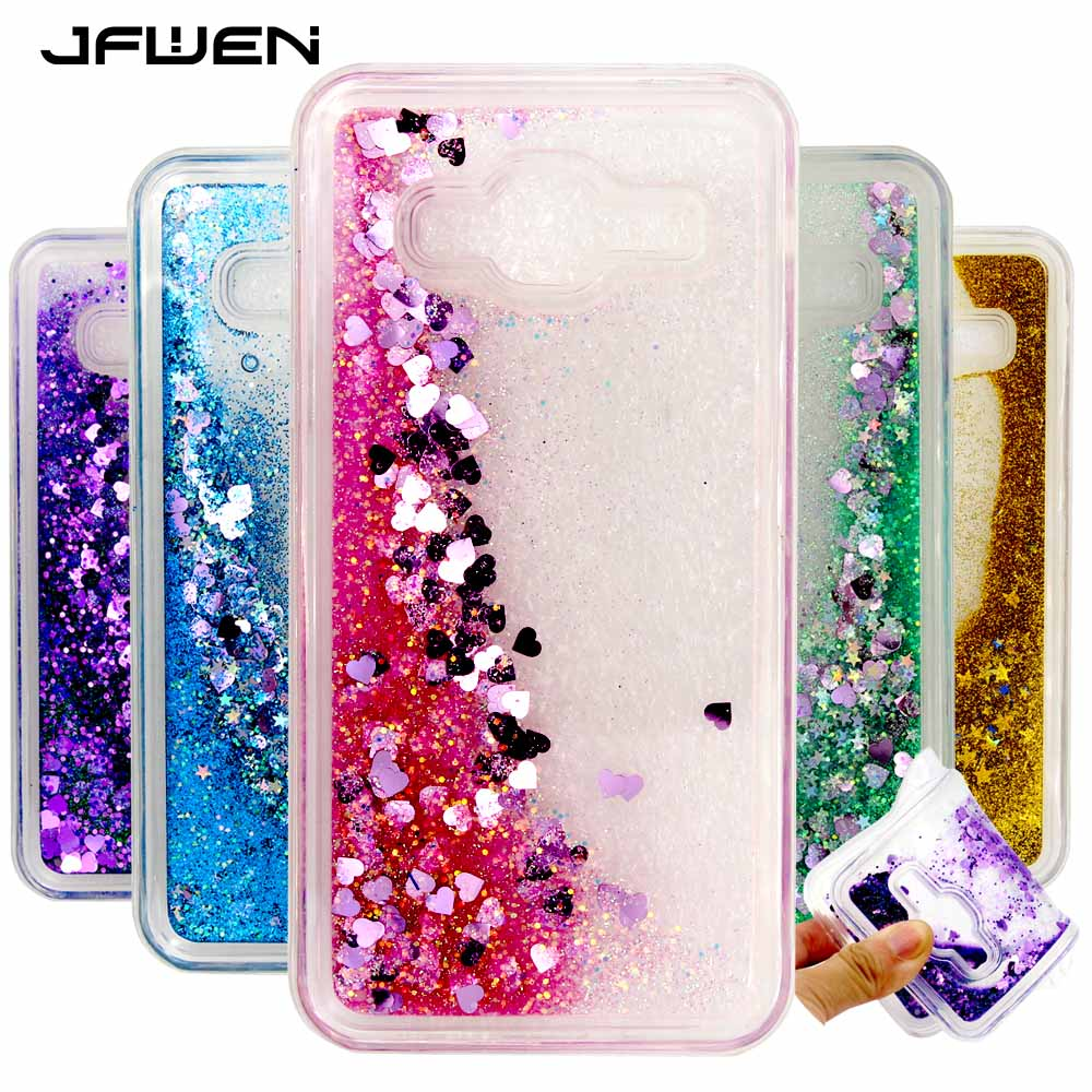Galleria fotografica JFWEN For Samsung J3 2016 Case Silicone Soft TPU Clear Transparent Liquid Phone Cases For Samsung Galaxy J3 2016 Case Cover Back
