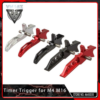 цена на VMASZ CNC Aluminum Silver Timer Trigger for AEG Airsoft M4 M16 Series Competitive Tactical Hunting Internal Parts Paintball Game