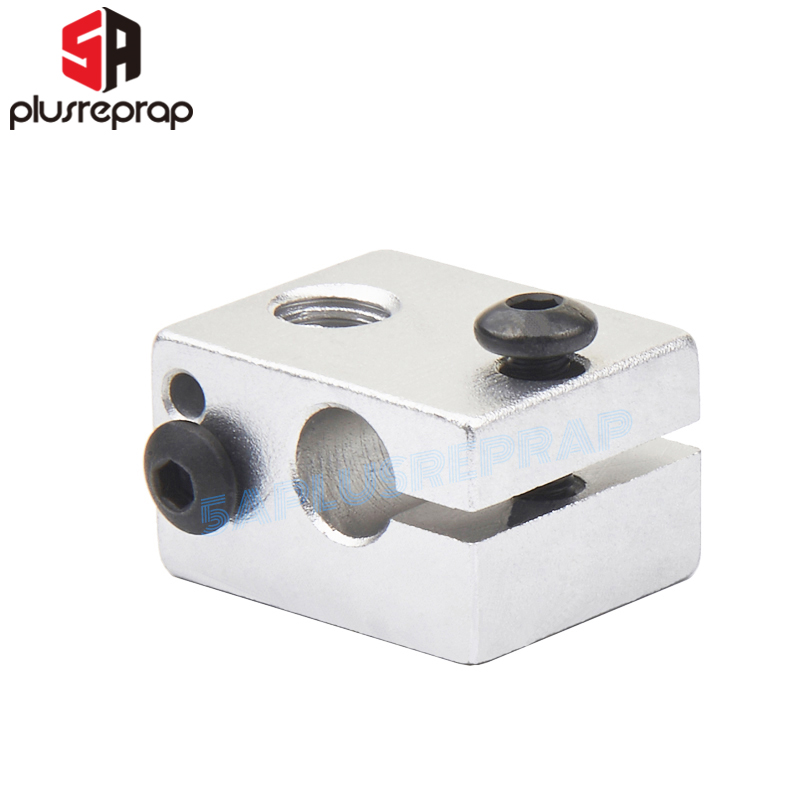 1PC V6 Aluminium Heating Block Hot End 20*16*12 Mm Reprap Metal 3D Printer P Reprap