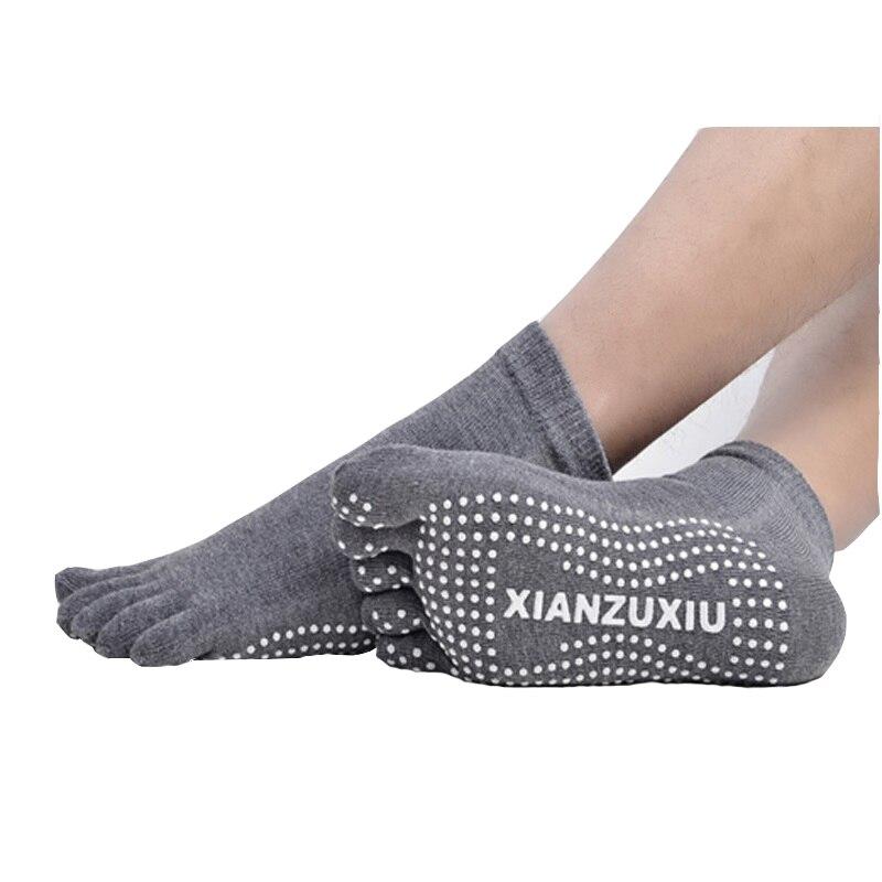 ★  4 пара / лот мужские хлопчатобумажные носки для йоги  дышащие  нескользящие  для здоровья  пять паль ①