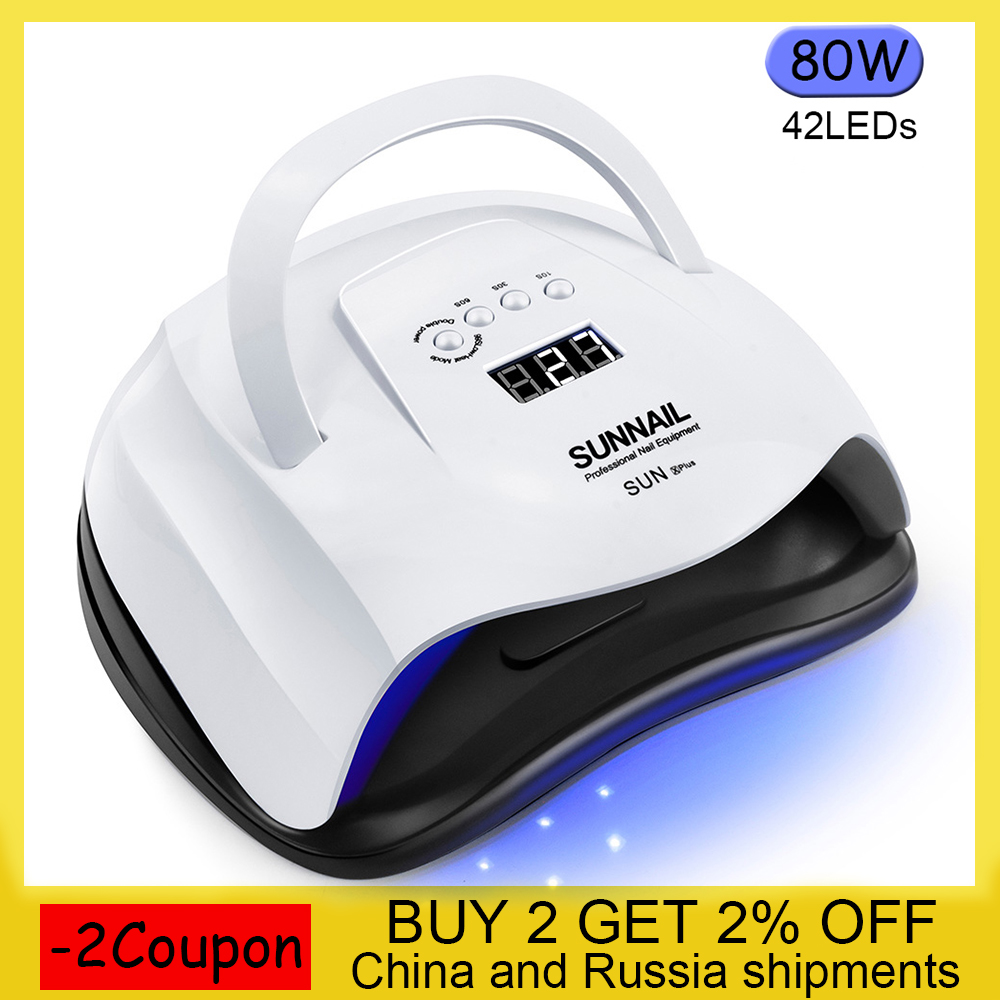 High Power 80/54/36W UV Lamp LED Nail Lamp Nail Dryer For All Gels Polish With Infrared Sensing Timer Smart Touch Button