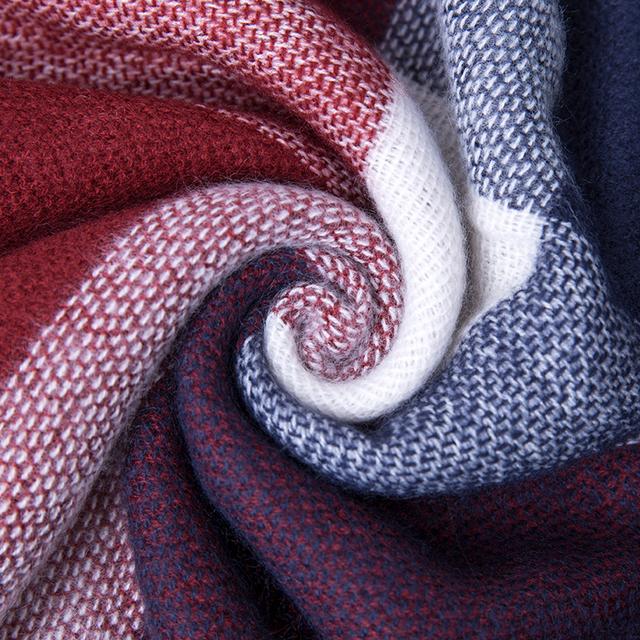 2017 New Winter Scarf For Women Plaid Blanket Scarf Luxury Shawl Warm Scarf Women Pashmina Scarves Soft Female Beach Towel Large