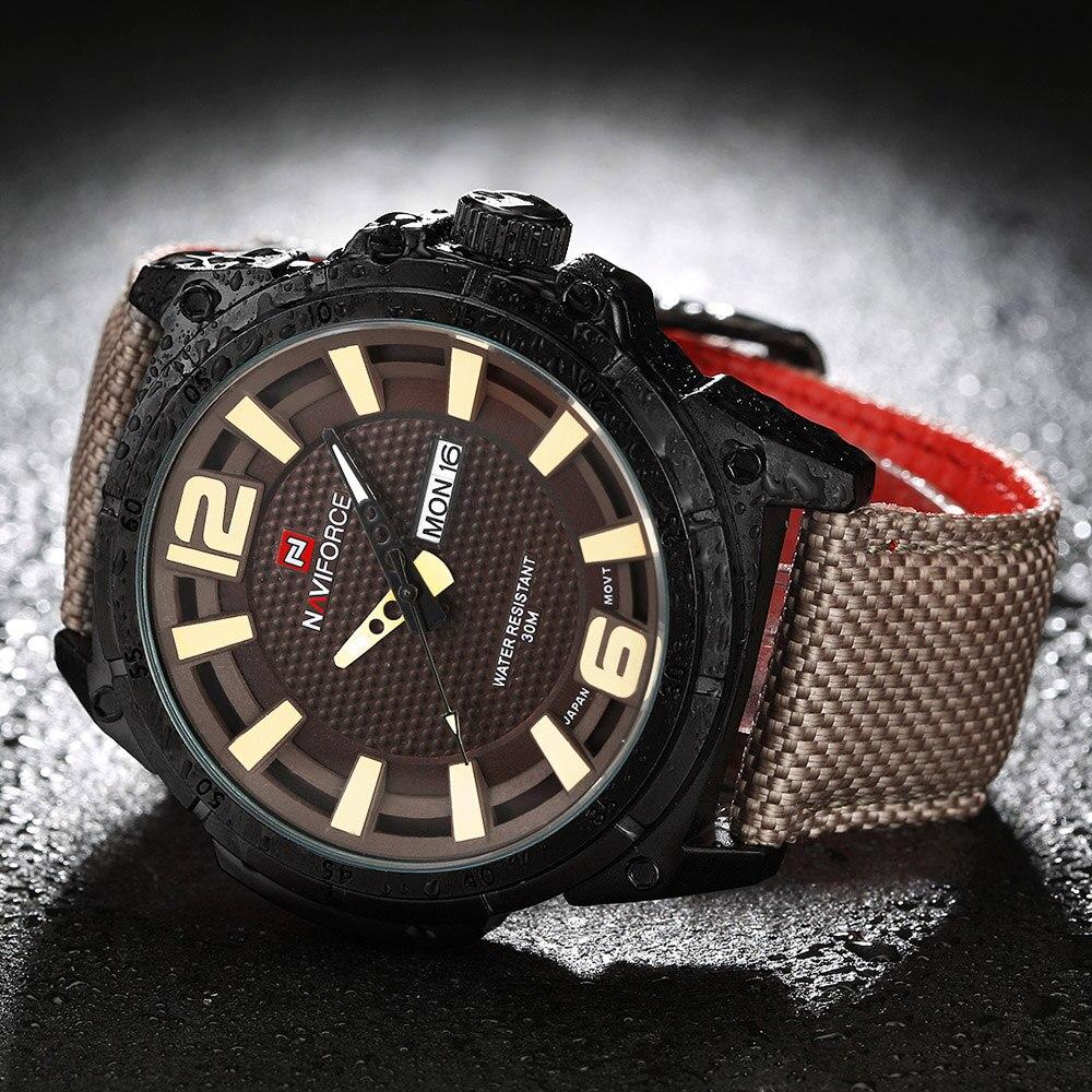 2017 NEW Luxury Brand NAVIFORCE Herre Sportsure Mænds Quartz Clock - Mænds ure - Foto 5