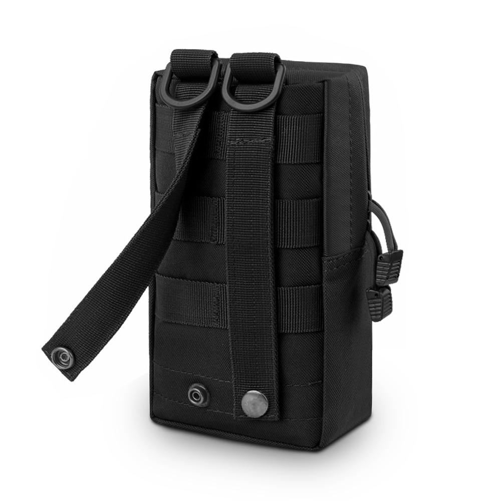 Tactical EDC Utility Military Phone Case Pocket Molle Bag Black Pouch Belt Waist