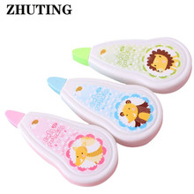 Cute Cartoon Animal Push Correction Tape Office School Students Writing Stationery