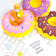 Mini Inflatable Donut Pool Float Toys Drink Float Cup Holder Swimming Ring Kids Bath Toys Adults Beach