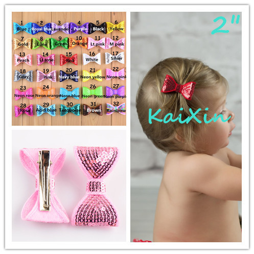 15pcs/lot 2 inch Embroidery Sequin Bows With Clips Knot Applique Boutique Hair Bows Accessories for Girl and Women FC36 halloween party zombie skull skeleton hand bone claw hairpin punk hair clip for women girl hair accessories headwear 1 pcs