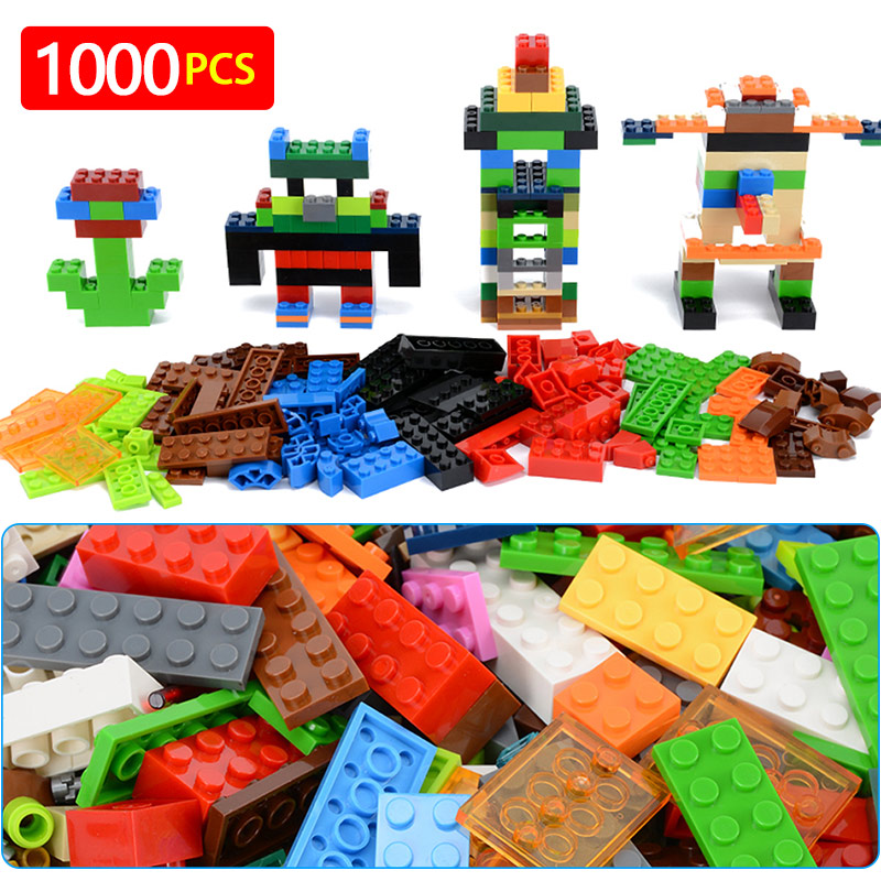 1000 Pcs Building Bricks Set DIY Creative Brick Kids Toy Educational Building Blocks Bulk Compatible With Brand Blocks umeile brand farm life series large particles diy brick building big blocks kids education toy diy block compatible with duplo
