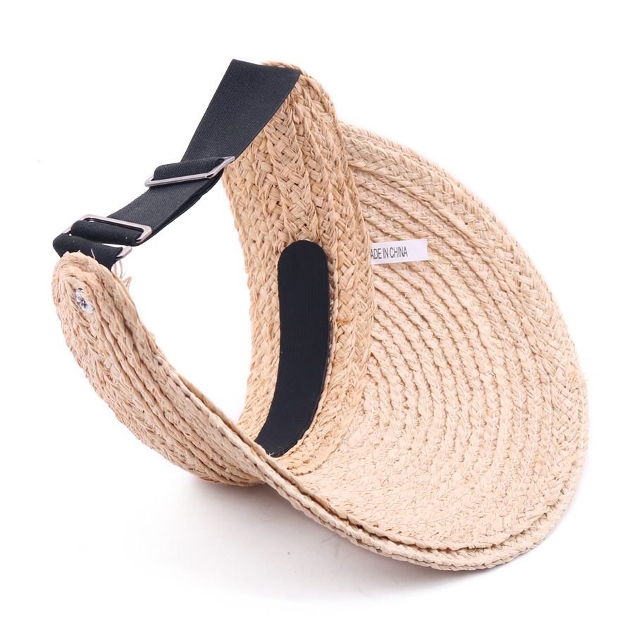 Image 4 - SQTEIO Summer Lafite straw hatHigh quality visor foldable beach travel empty top hat women cap sun hats-in Men's Sun Hats from Apparel Accessories