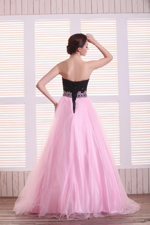 Largo atractivo de Una Línea de Color Rosa Vestidos de Baile 2018 de ...