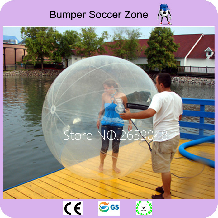Free Shipping Water Walking Ball Toy Ball Giant Inflatable Water Ball and Germany TIZIP Zipper Of 2m Diameter For 1-2 Persons free shipping 3 3 1 2m water banana boat for sport games