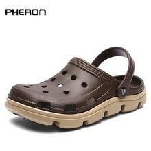 Hommes chaussures décontractées sandales d'été Mules sabots léger respirant plage pantoufles hommes chaussures d'eau creux gelée Chaussure Homme pantoufle