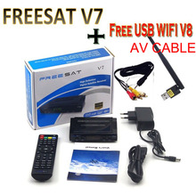Freesat V7 3pcs free sat v8 WIFI optional DVB-S2 HD satellite TV receiver Youtube Power VU CCam Newcmd Not support IPTV