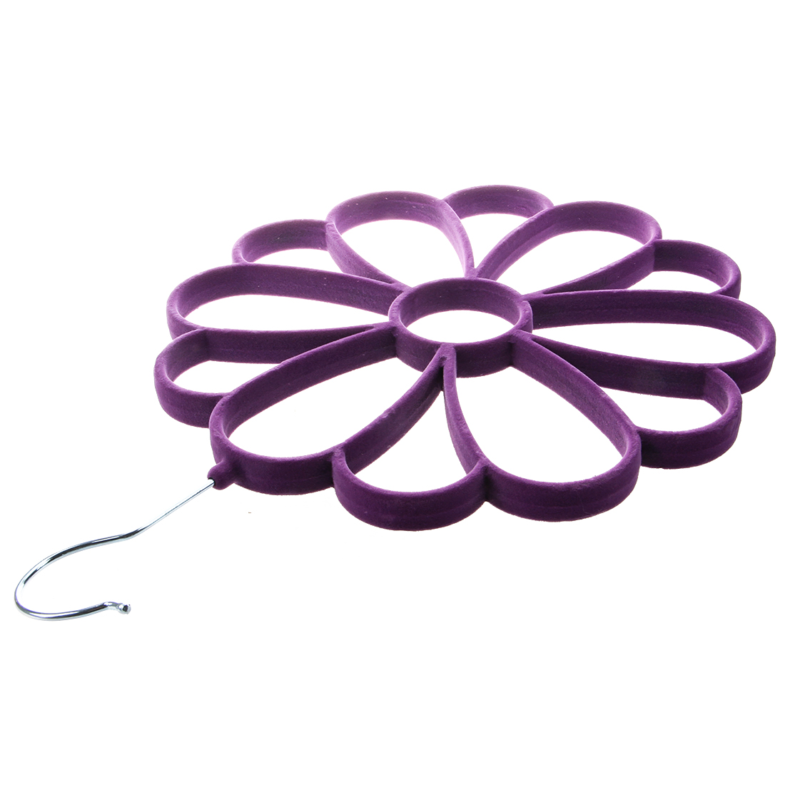 New multifunction Soft Scarf Hanger/Organizer for Closet Protect and Organize Your Delicate Scarves (Purple)