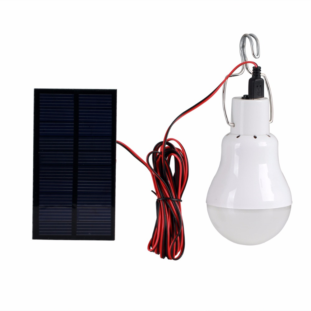 1PCS USB Solar Panel 2W LED Bulb Solar Lamps Solar Power LED Light Outdoor Solar Lamp Spotlight Garden Lights Factory Direct