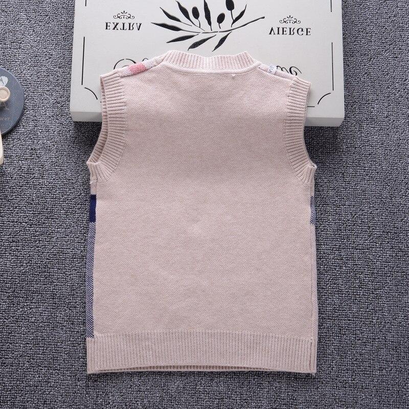33a3defe6 2-7Y Boys Sweater 2018 England Style Brand Design Knit Vest Children ...