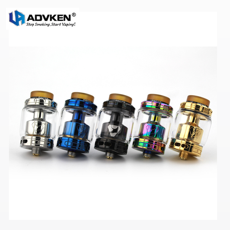Authentic Advken Manta RTA 24mm Rebuildable Vape Tank 3.5ML/5ML Atomizer for 510 Thead Mod Vaporizer Kit Electronic Cigarette